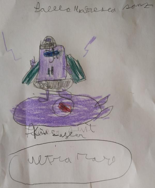 Pablo de 7 años dibujo superzings serie 6