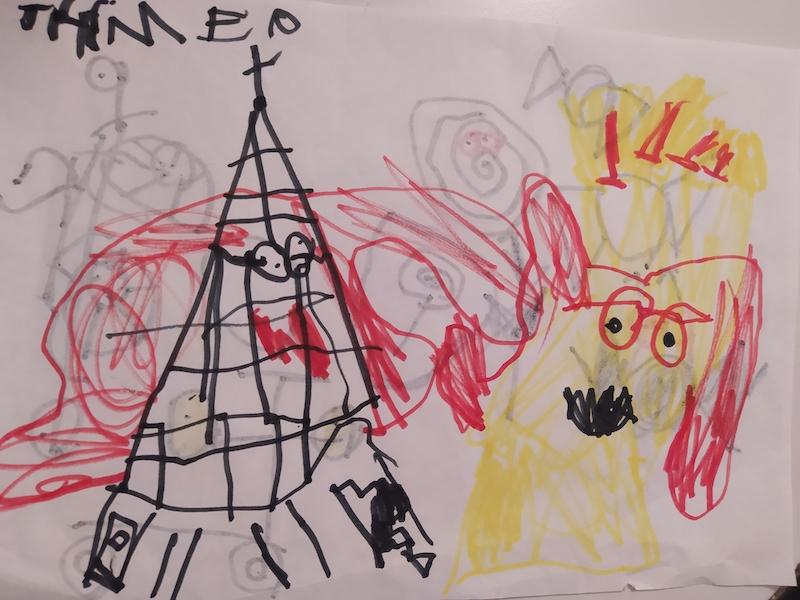 Thimeo de 5 años crea sus superzings de la serie 6